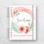 Floral Rosa Claro e Verde Menta